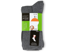 Ellen Amber Damen-Socken im 5er-Pack, Bio Cotton