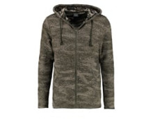 JORGLEEN REGULAR FIT - Strickjacke - black/rosin - meta.domain
