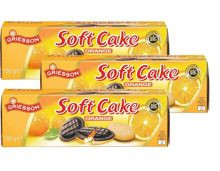 Soft Cake-Orange oder -Himbeer im 3er-Pack