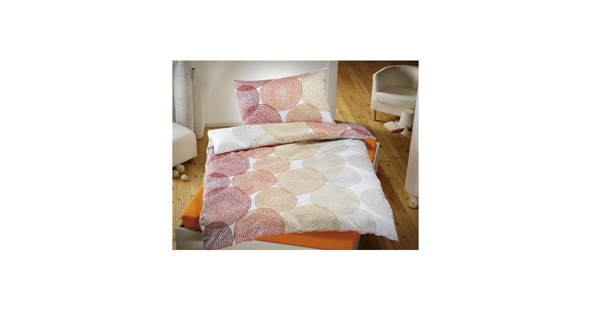 bettw sche mit punkte kreismuster lehner versand ab 08. Black Bedroom Furniture Sets. Home Design Ideas