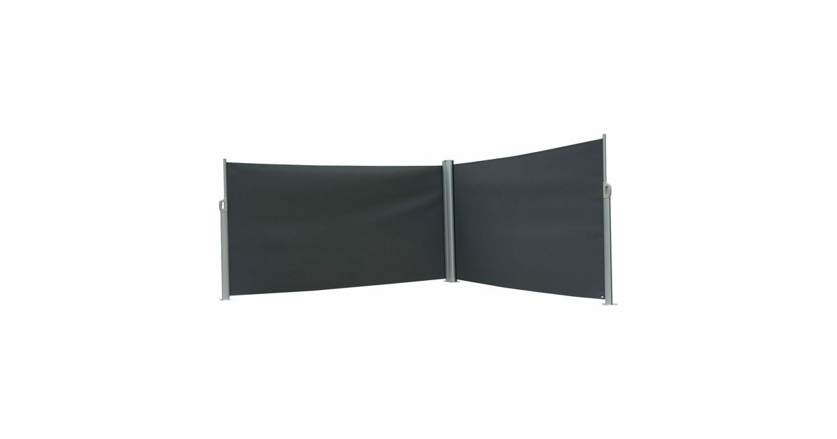 doppel seitenmarkise zum ausziehen anthrazit silber 160 x 600 cm otto 39 s webshop ab. Black Bedroom Furniture Sets. Home Design Ideas