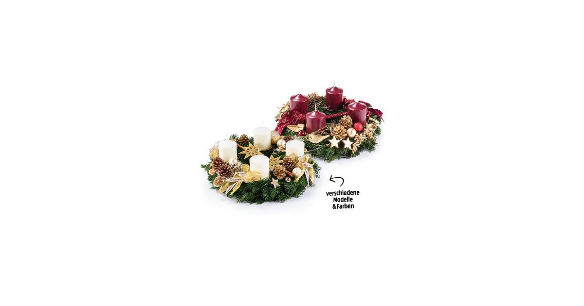 exklusiver floristen adventskranz aldi suisse ab. Black Bedroom Furniture Sets. Home Design Ideas