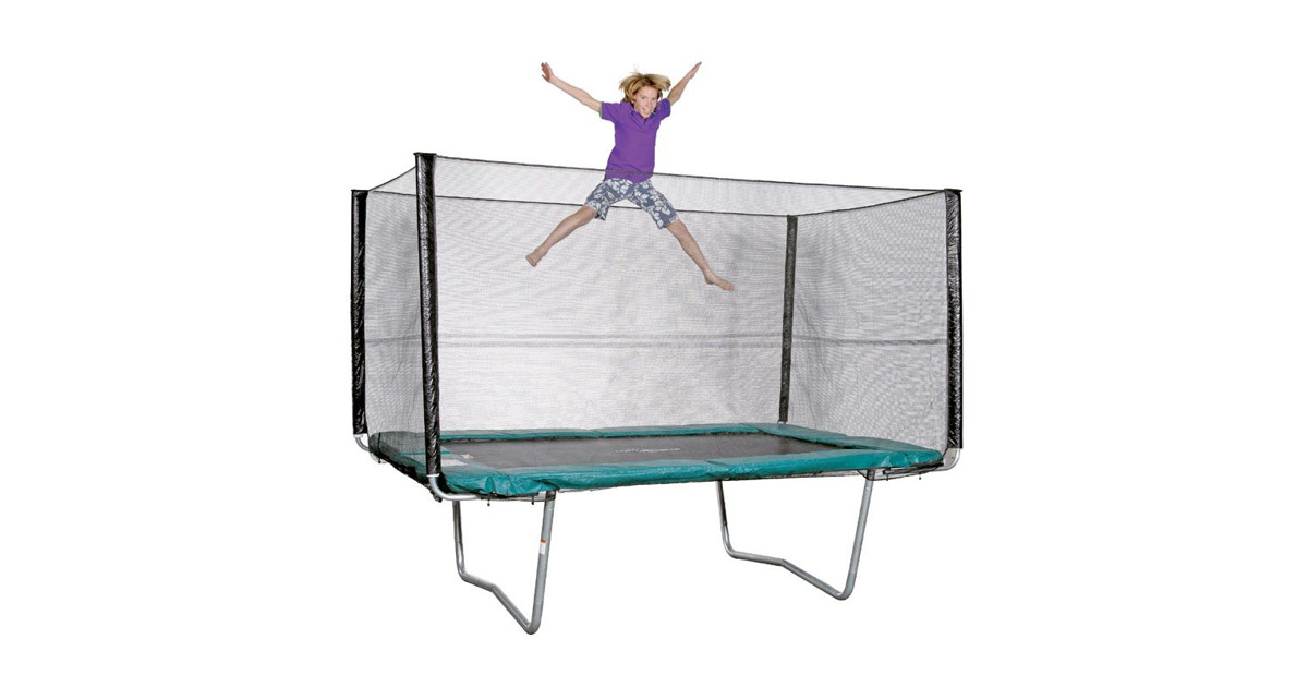five stars trampolin rechteckig mit sicherheitsnetz ca 310 x 215 cm otto 39 s webshop ab 19. Black Bedroom Furniture Sets. Home Design Ideas