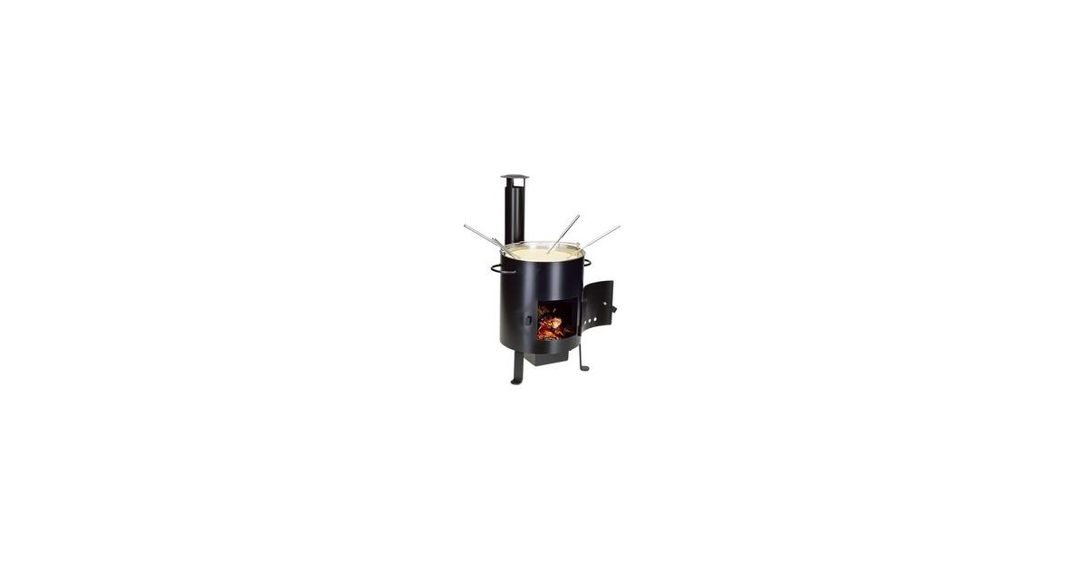 fondue und grillofen zum einfeuern mit holz 33 rabatt. Black Bedroom Furniture Sets. Home Design Ideas