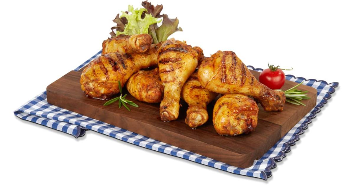 grill mi optigal pouletunterschenkel gewürzt in aluschale - 40
