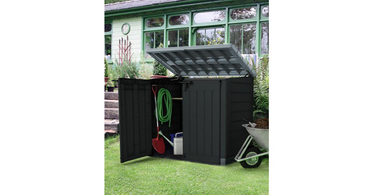 kunststoffschrank store it out max 146 x 82 x 125 cm schwarz grau otto 39 s webshop ab. Black Bedroom Furniture Sets. Home Design Ideas