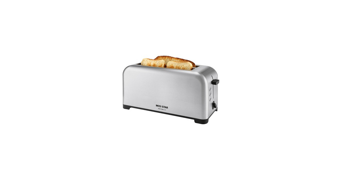 mio star toast steel 1400 4 scheiben toaster 28 rabatt melectronics ab. Black Bedroom Furniture Sets. Home Design Ideas