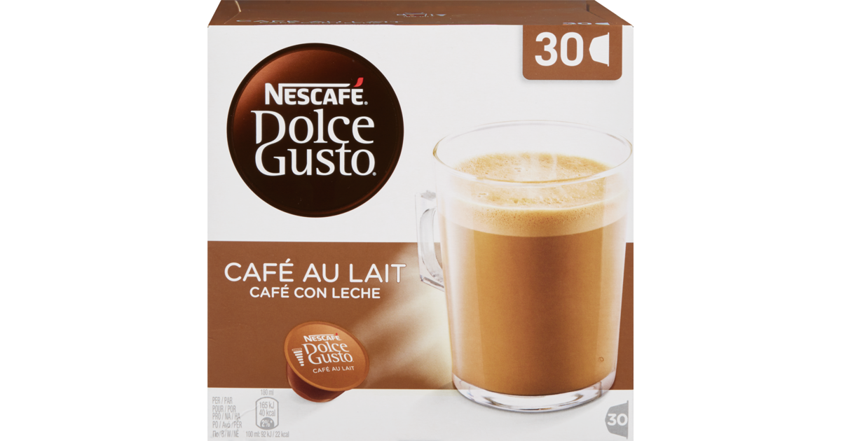 nescaf dolce gusto kaffeekapseln caf au lait 20 rabatt denner ab. Black Bedroom Furniture Sets. Home Design Ideas