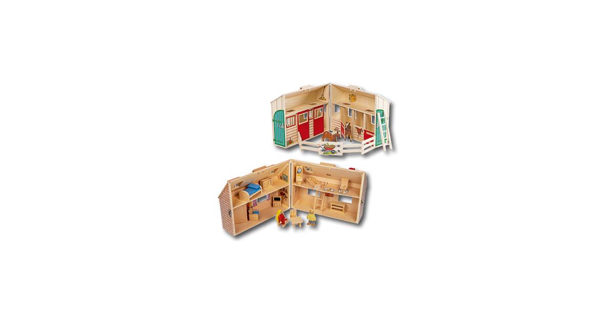 puppenhaus pferdestall im koffer aldi suisse ab. Black Bedroom Furniture Sets. Home Design Ideas