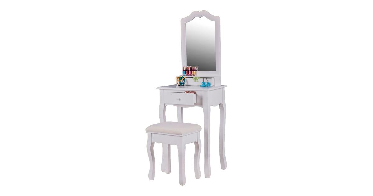 schminktisch mona mit hocker weiss otto 39 s webshop ab. Black Bedroom Furniture Sets. Home Design Ideas