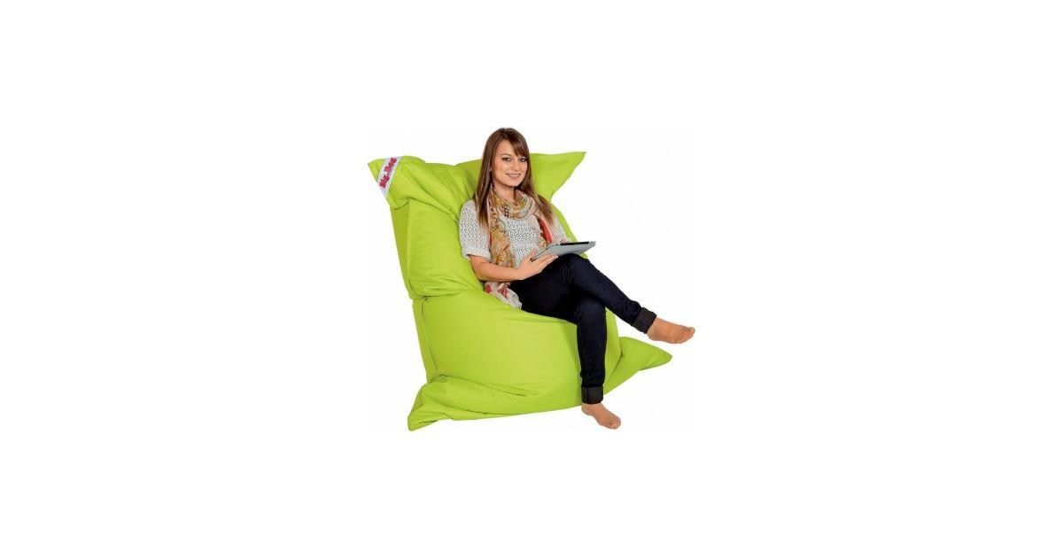 sitzsack big bag brava gr n 130 x 170 cm 380 liter otto 39 s webshop ab. Black Bedroom Furniture Sets. Home Design Ideas