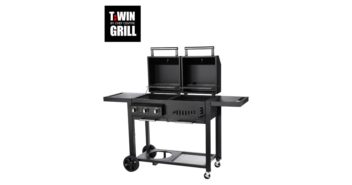 twin grill by chef centre t 36 otto 39 s webshop ab. Black Bedroom Furniture Sets. Home Design Ideas